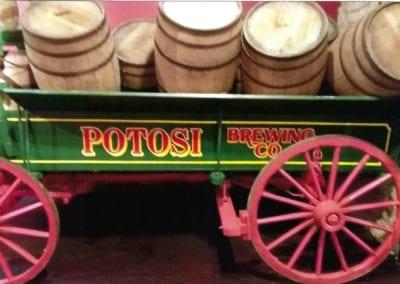 Potosi Brewing Co wagon exhibit