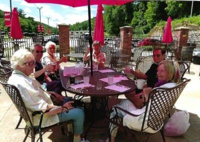 Tour members enjoying the Potosi beer garden